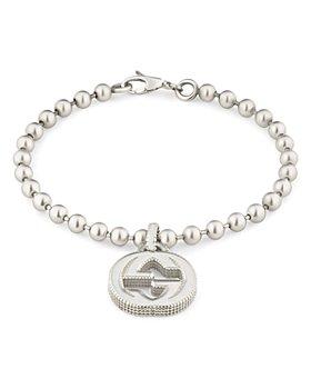 Gucci - Sterling Silver Interlocking G Bracelet