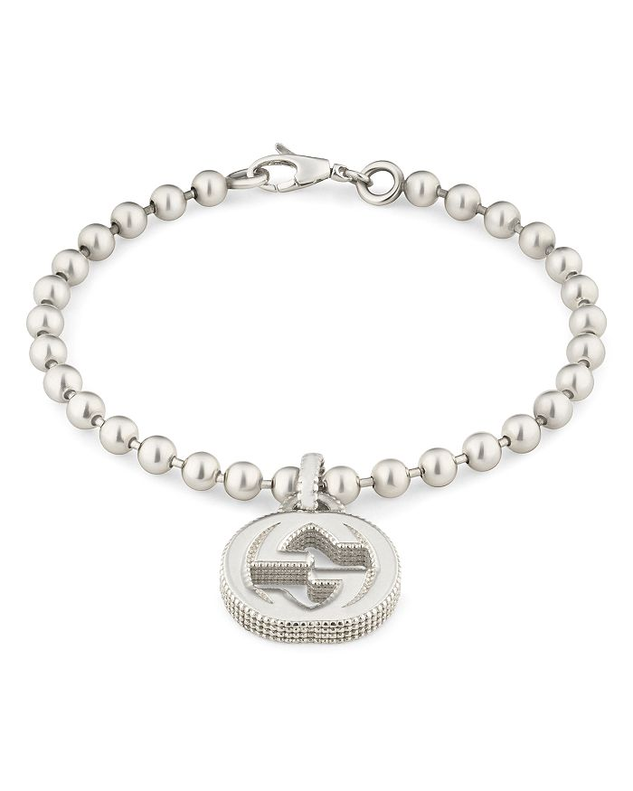 Gucci - Sterling Silver Interlocking G Bracelet