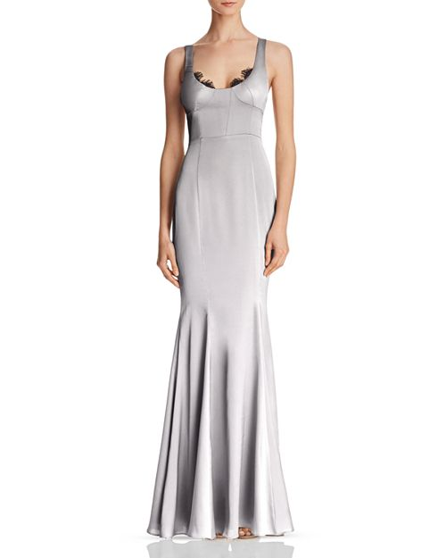 Fame and Partners Ara Satin Gown - 100% Exclusive | Bloomingdale\'s