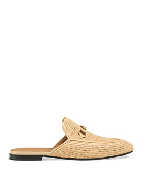 Gucci - Men's Straw Princetown Slippers