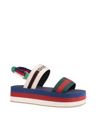 Gucci Women's Stripe Platform Sandals