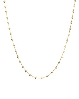 Officina Bernardi - Moon Bead Chain Necklace, 16""