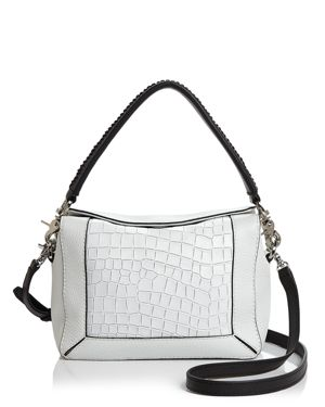 SMALL BARROW LEATHER CROSSBODY BAG - WHITE