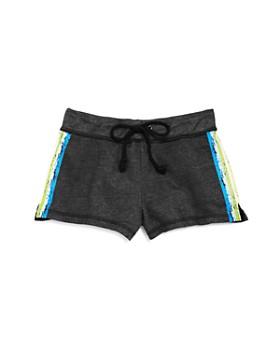 So Nikki... - Girls' Rainbow Stripe Shorts - Big Kid