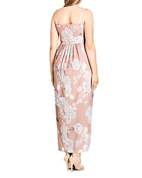 City Chic Plus - Whimsical Floral Maxi Dress