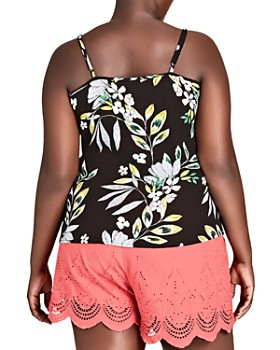 ebb3328adb0 ... City Chic Plus - Maui Floral Ruffle-Trim Top