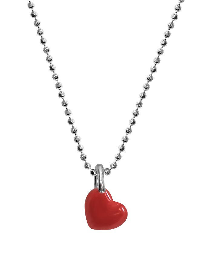 Alex Woo - Red Mini Heart Chain Necklace, 16""