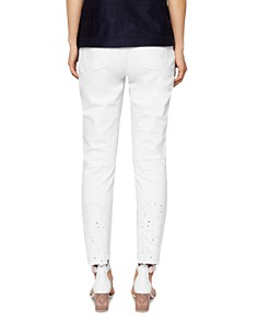 Ted Baker - Marriaa Embroidered Skinny Jeans in White
