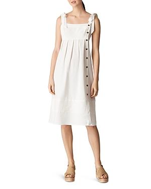 Whistles Button Detail Linen Dress-Women