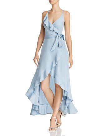 GUESS - Chambray Faux-Wrap Maxi Dress