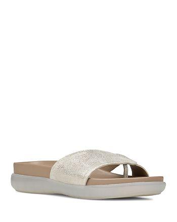 Donald Pliner - Women's Hollie Metallic Leather Thong Slide Sandals