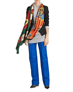 Burberry Horse Carriage Crest Silk Oblong Scarf - Bloomingdale's_0