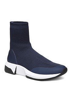 Via Spiga - Women's Verion Knitted Platform Sock Sneakers