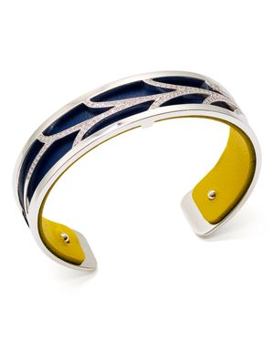 Les Georgettes Courbe Reversible Two-Tone Open Cuff Bracelet