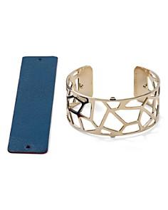 Les Georgettes - Giraffe Reversible Medium Two-Tone Open Cuff Bracelet