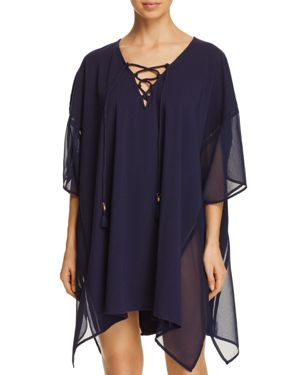 LACE-UP TUNIC SWIM COVER-UP