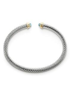 David Yurman - Cable Kids Birthstone Bracelet with Aquamarine & 14K Gold