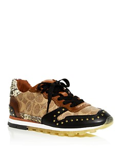 COACH - Women's C118 Mixed Media Lace Up Sneakers