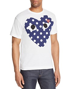 Comme Des Garcons PLAY Polka-Dot Heart Graphic Tee - Bloomingdale's_0