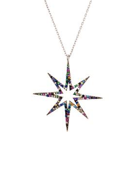"AQUA - Multicolor Star Pendant Necklace in Sterling Silver, 16"" - 100% Exclusive"