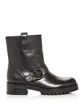 COACH - Women's Leighton Leather Moto Boots