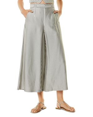 STRIPED PLEATED CULOTTES