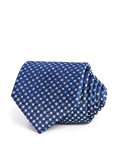 The Men's Store at Bloomingdale's Textured Medallion Circles Classic Tie - 100% Exclusive_0