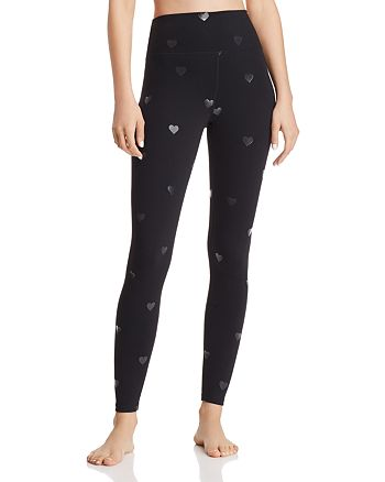 Spiritual Gangster - Metallic Star Print Ankle Leggings