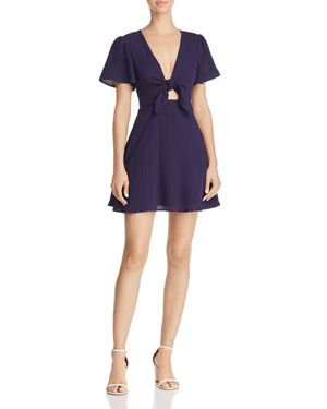 Knot Front Dress, Navy
