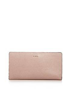 Furla - Babylon Extra Large Bi-Fold Embossed Leather Wallet