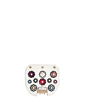 Furla My Play Interchangeable Metropolis Pearl Flower Print Leather Flap
