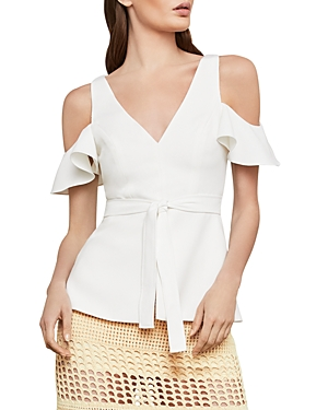 Bcbgmaxazria Cold-Shoulder Peplum Top
