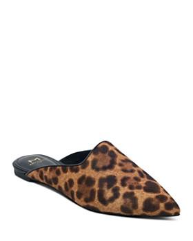 Marc Fisher LTD. - Sheenly Leopard Print Calf Hair Mules
