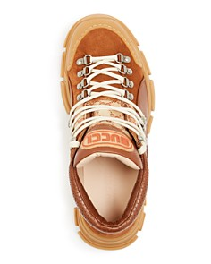 Gucci - Men's Flashtrek GG Leather Lace-Up Sneakers