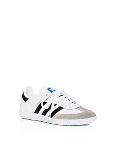 Adidas - Unisex Samba Leather & Suede Lace Up Sneakers - Big Kid