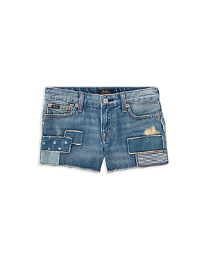 Polo Ralph Lauren Girls Patchwork Denim Shorts  Big Kid