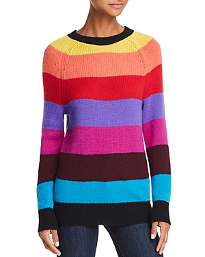 Aqua Rainbow-Stripe Cashmere Sweater - 100% Exclusive