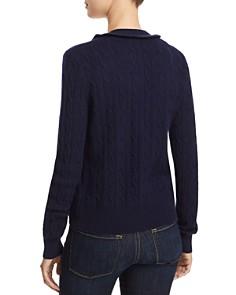 AQUA - Ruffled Cable-Knit Cashmere Cardigan - 100% Exclusive