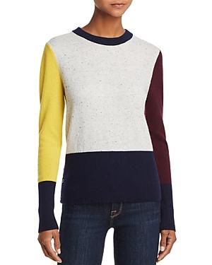 Aqua Cashmere Color-Block Cashmere Crewneck Sweater - 100% Exclusive