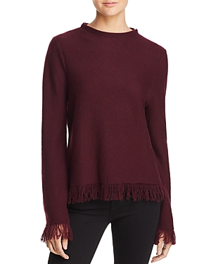 Aqua Cashmere Fringed Cashmere Sweater - 100% Exclusive