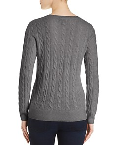 C by Bloomingdale's - Cable-Knit Cashmere Sweater - 100% Exclusive