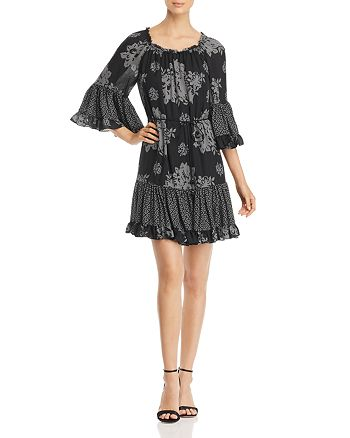 Kobi Halperin - Nastasia Pattern Block Silk Dress
