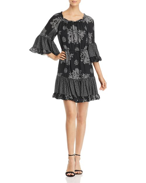 Kobi Halperin - Nastasia Pattern Block Silk Dress