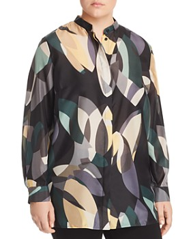 Lafayette 148 New York Plus - Brayden Printed Silk Blouse