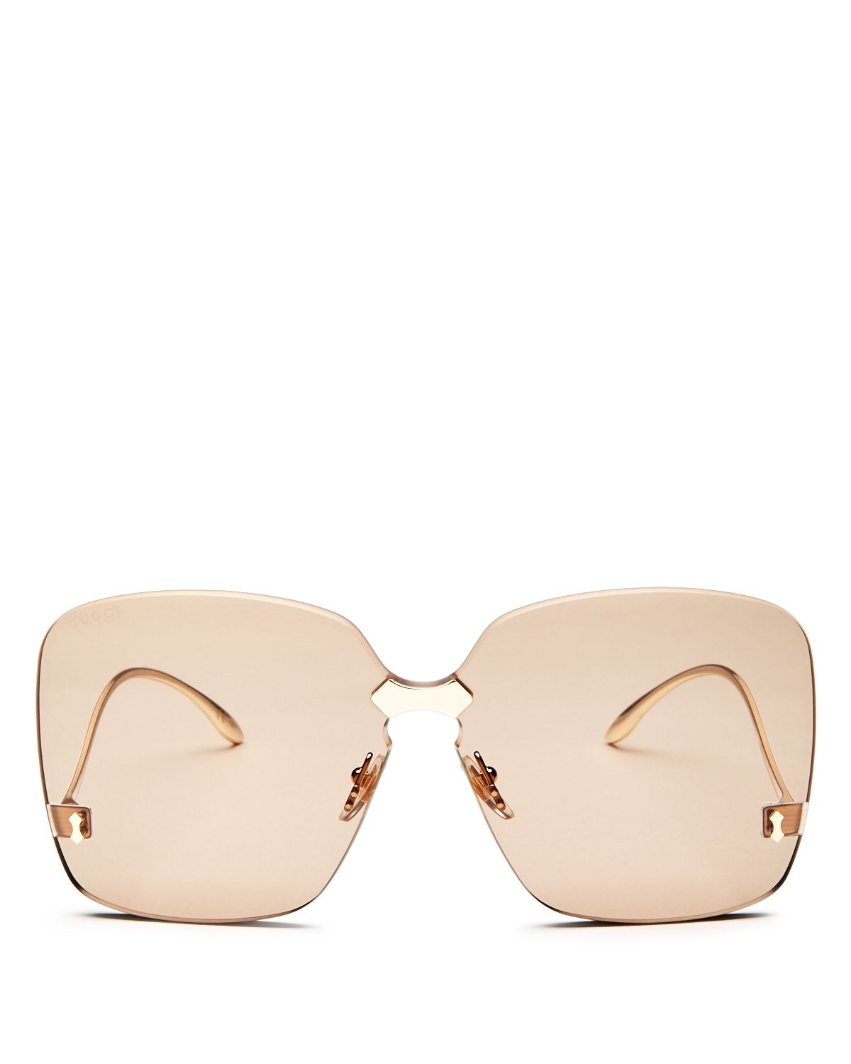 Oversized Rimless Square Sunglasses, 75mm by Gucci