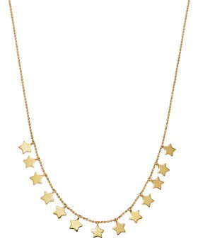 """Moon & Meadow - Star Frontal Necklace in 14K Yellow Gold, 17"""" - 100% Exclusive"""