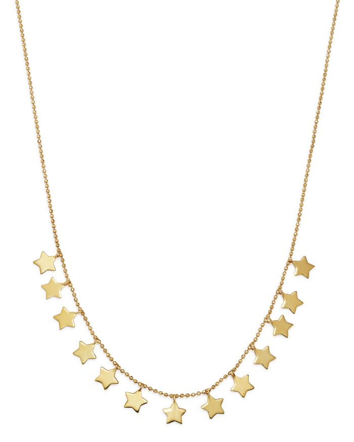 """Moon & Meadow Star Frontal Necklace in 14K Yellow Gold, 17"""" - 100% Exclusive   
