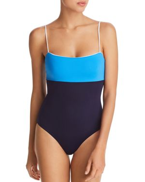 Scarlett One-Piece Swimsuit in Evening Blue/ French Blue