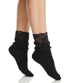 Natori - Feather Lace Ankle Socks