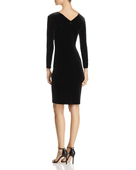 Emporio Armani - Crisscross Ruched Velvet Dress